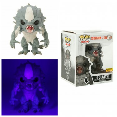 "FUNKO Evolve POP! Games #41 Goliath 6"" Vinyl Figure Glow-In-The-Dark Hot Topic Exclusive"