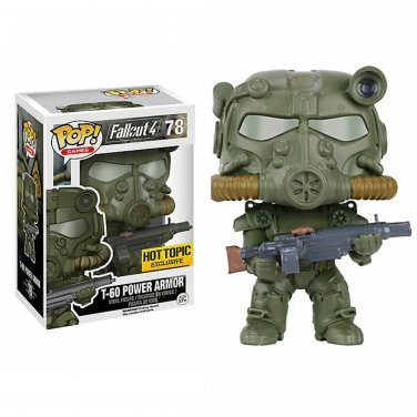 FUNKO Fallout 4 POP! Games #78 T-60 Power Armor Collectible Vinyl Figure Hot Topic Exclusive