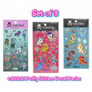 Set of 3 Loungefly tokidoki Mermicorno Unicorno Puffy Sticker Decal Packs by Simone Legno