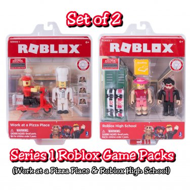 Set of 2 Roblox Series 1 Game Packs Work at a Pizza Place & Roblox High School by Jazwares