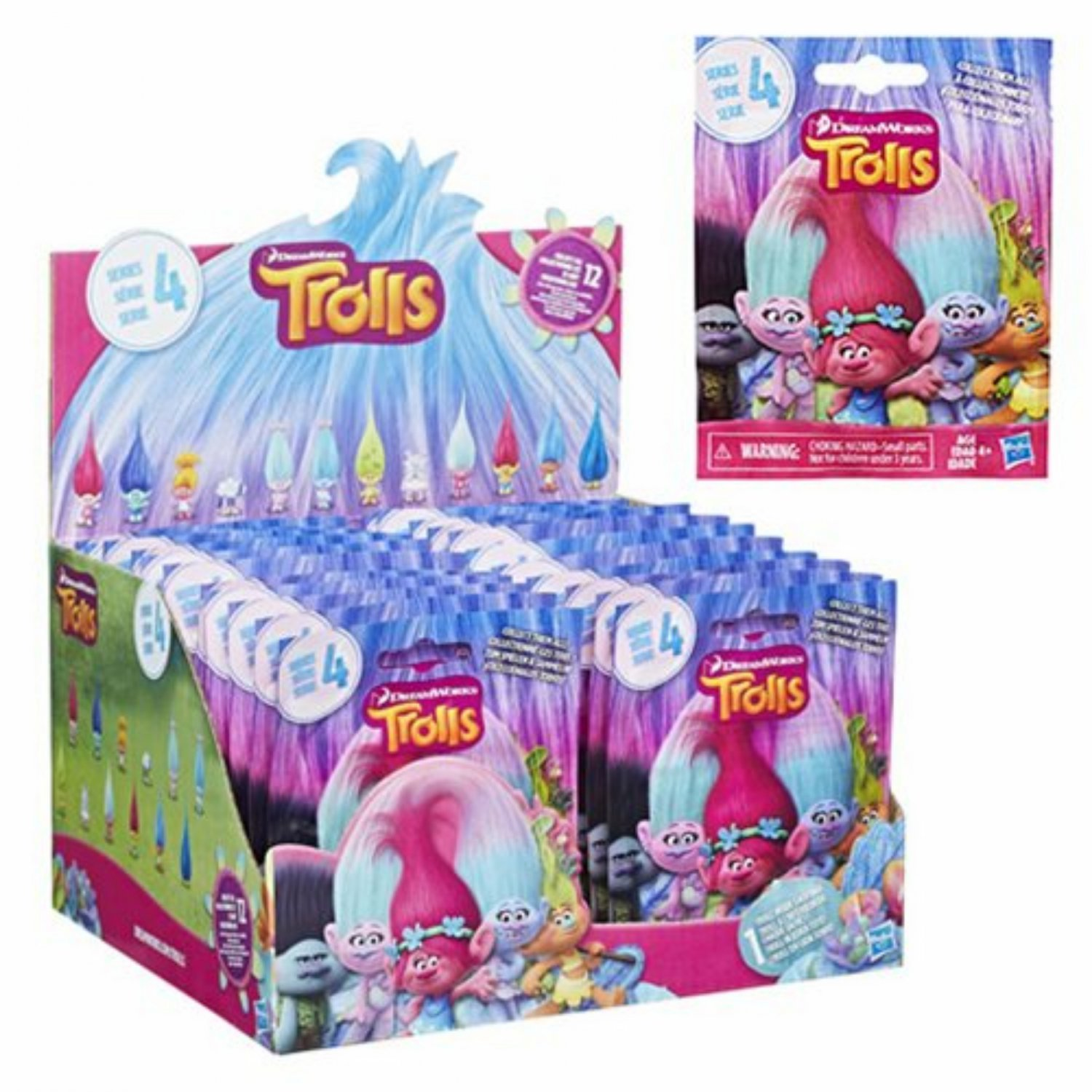 DreamWorks Trolls Movie Surprise Mini Figure Series 4 Mystery Blind Bag �12 Packs by Hasbro