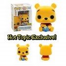 FUNKO Disney Winnie The Pooh POP! Winnie The Pooh (Flocked) Figure Hot Topic Exclusive