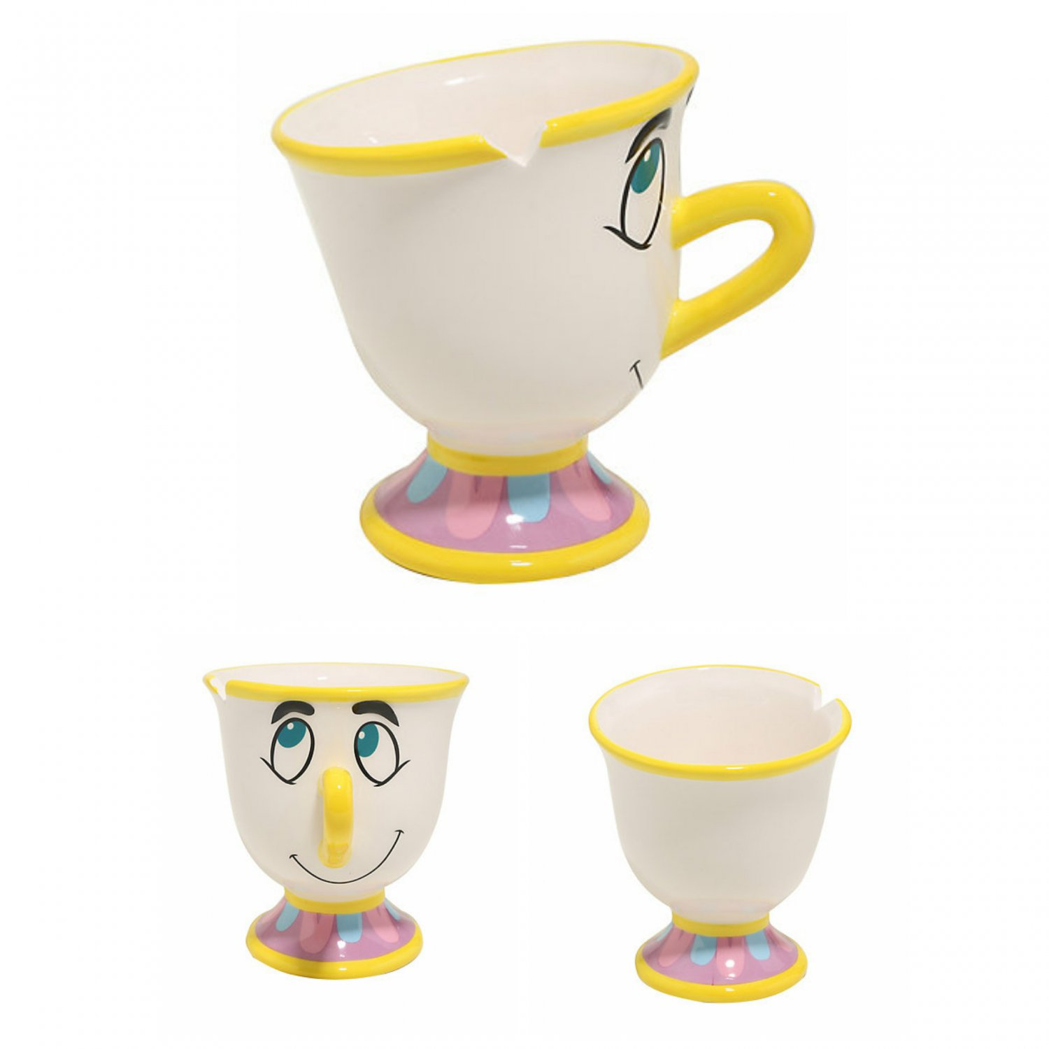 Disney Beauty & The Beast 3D Chip Figural 24 oz. Ceremic Mug Coffee Cup by Silver Buffalo