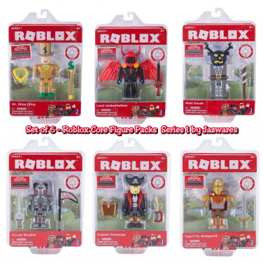 Set of 6 Roblox Core Figure Packs Series 1 10706 10707 10708 10709 10710 10711 by Jazwares