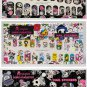 Set of 3 Retired 2013 tokidoki x Sanrio Characters Nail Art Stickers - White (×1) | Black (×2)