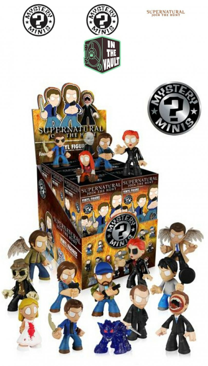 FUNKO Supernatural Mystery Minis Blind Box Vinyl Mini Figures - Complete Set of 17 (Vaulted)