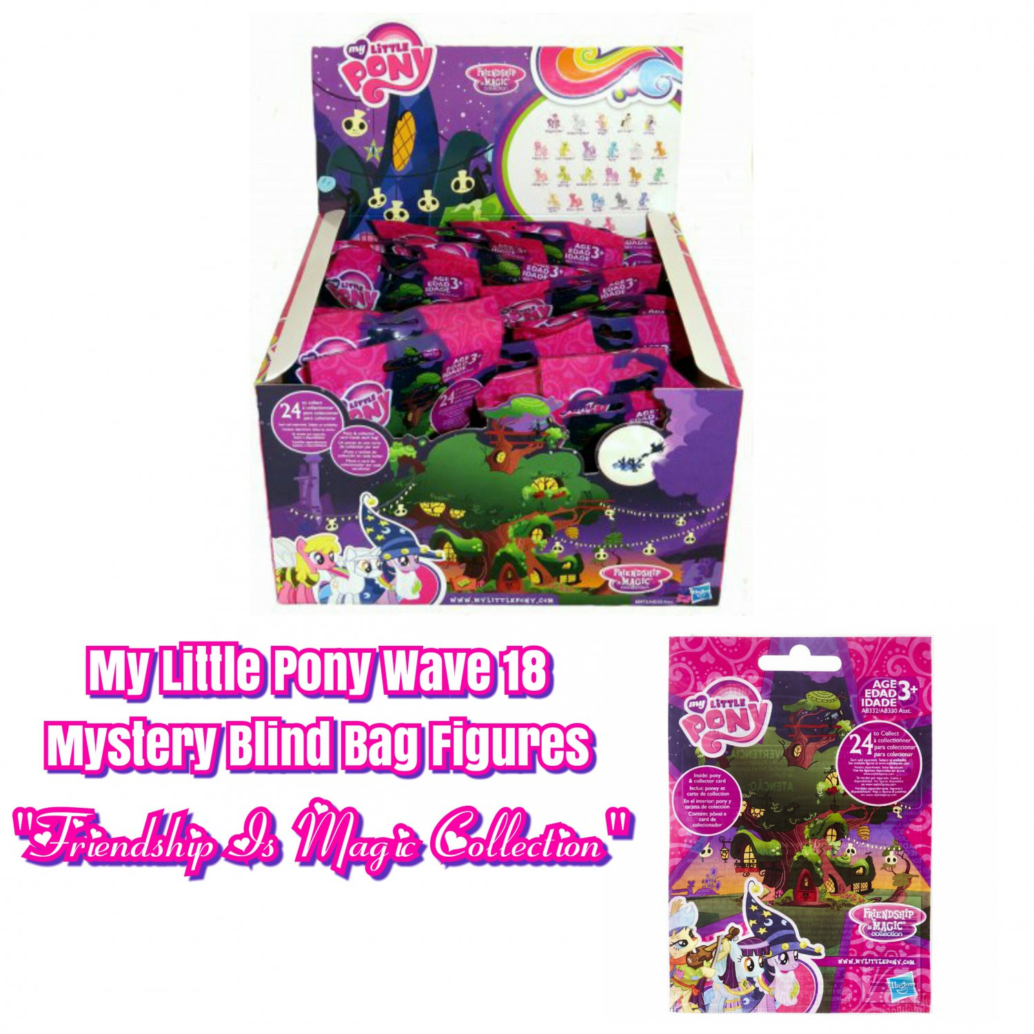 My Little Pony MLP Friendship is Magic Series / Wave 18 Mystery Blind Bag Figure �24 Sealed Packs