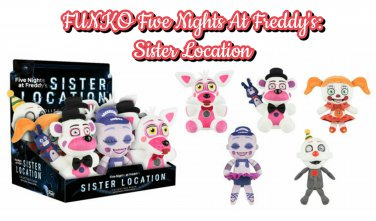 Funko Five Nights At Freddy's Sister Location Plush Set Ennard Foxy Freddy Bollora Baby