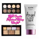 Set of 3 NYX Cosmetics Highlight & Contour Pro, & Strobe of Genius Palette, & Angel Veil Primer