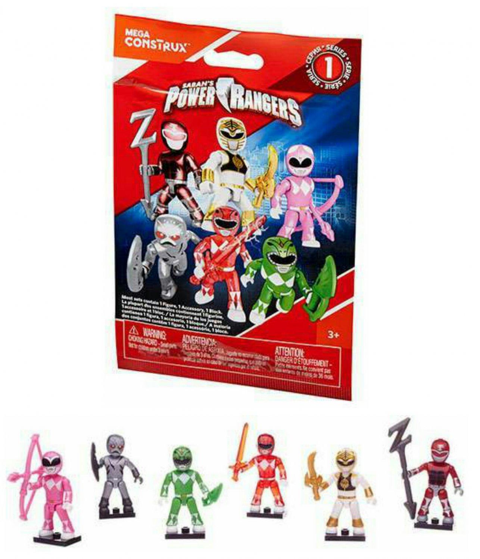 Mega Construx Mega Bloks Power Rangers Series 1 Action Figure Blind Bags �18 Sealed Packs #DPK62