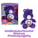 "Limited Edition Care Bears Rainbow Heart 35th Anniversary 14"" Plush Bear Figure by Just Play"