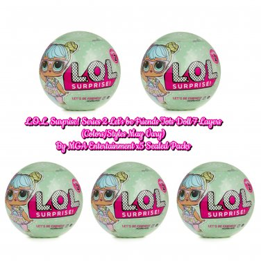 L.O.L. LOL Surprise! Series 2 Let's be Friends Tots Doll 7 Layers By MGA x5 Sealed Packs