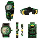 LEGO NINJAGO MOVIE 24PCS Lloyd Minifigure Buildable Link Watch - Green - #8021100