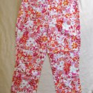 Pink Flower Capris S Small 4/5 31 Waist Maternity Announcements Orange CLEARANCE