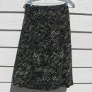 Merona Black Pattern Skirt M Medium 30 Waist Easy Care Ivory Tan