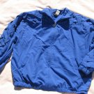Teddi Royal Blue Jacket M Medium Lattice Zippered  Light Weight