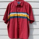Wrangler Western Shirt XXL New NWT Red Short Sleeve Striped