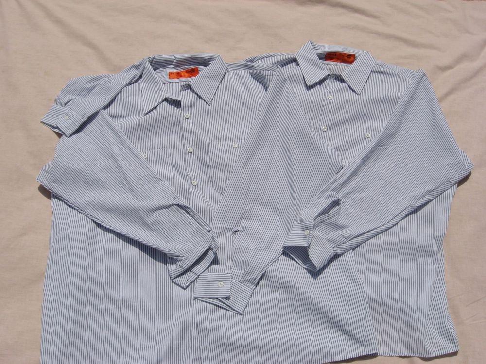 2 Shirts Pinstripe 3XL LN Long Sleeve Shirts EUC Cornerstone Button Down