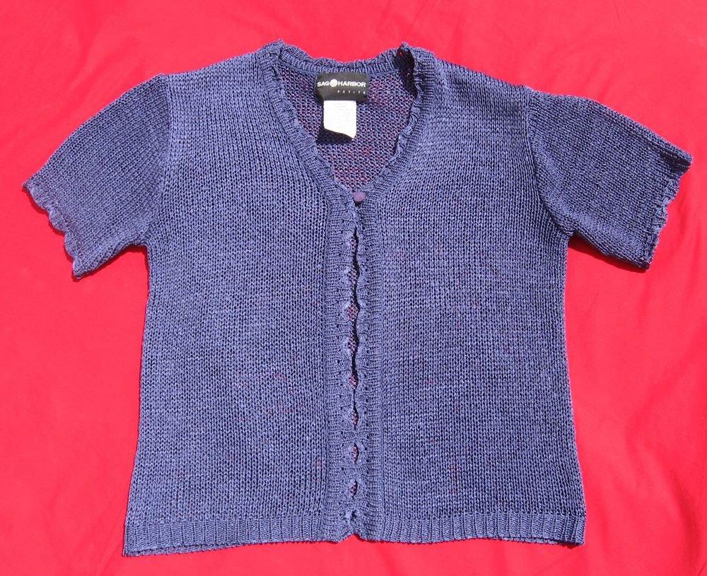 Sag Harbor Sweater PXS Petite XSmall Deep Plum Shrug CLEARANCE