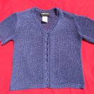 Sag Harbor Sweater PXS Petite XSmall Deep Plum Shrug CLEARANCE