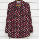 Motherhood Pull Over Knit Top L Large 42 Chest Red Black White Geometric