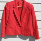 Executive Suite Salmon Blazer 6P 36 Chest Woven Linen Look