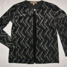 Notation Black Evening Top S Small 1 Pc Jacket Silver Top Combo EUC