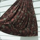 Anne Klein Silk Skirt 8 26 Inch Waist Red Brown Maxi