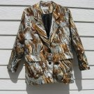 Silkworm Blazer 43 Chest Animal Print Jacket Silky Eye Catching 14 EUC