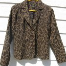 ELCC Blazer Jacket Small S Brown Pattern Texture Upholstery CLEARANCE