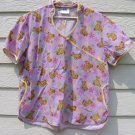 Adar Teddy Bear Scrub Top XL Lavendar 48 Chest