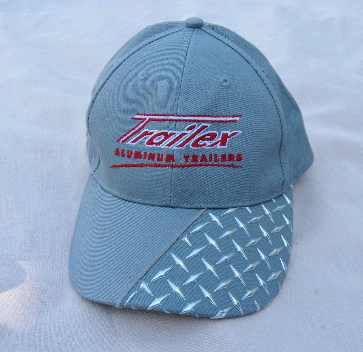 Gray Trailex Aluminum Trailer Baseball Cap Adjustable Advertising