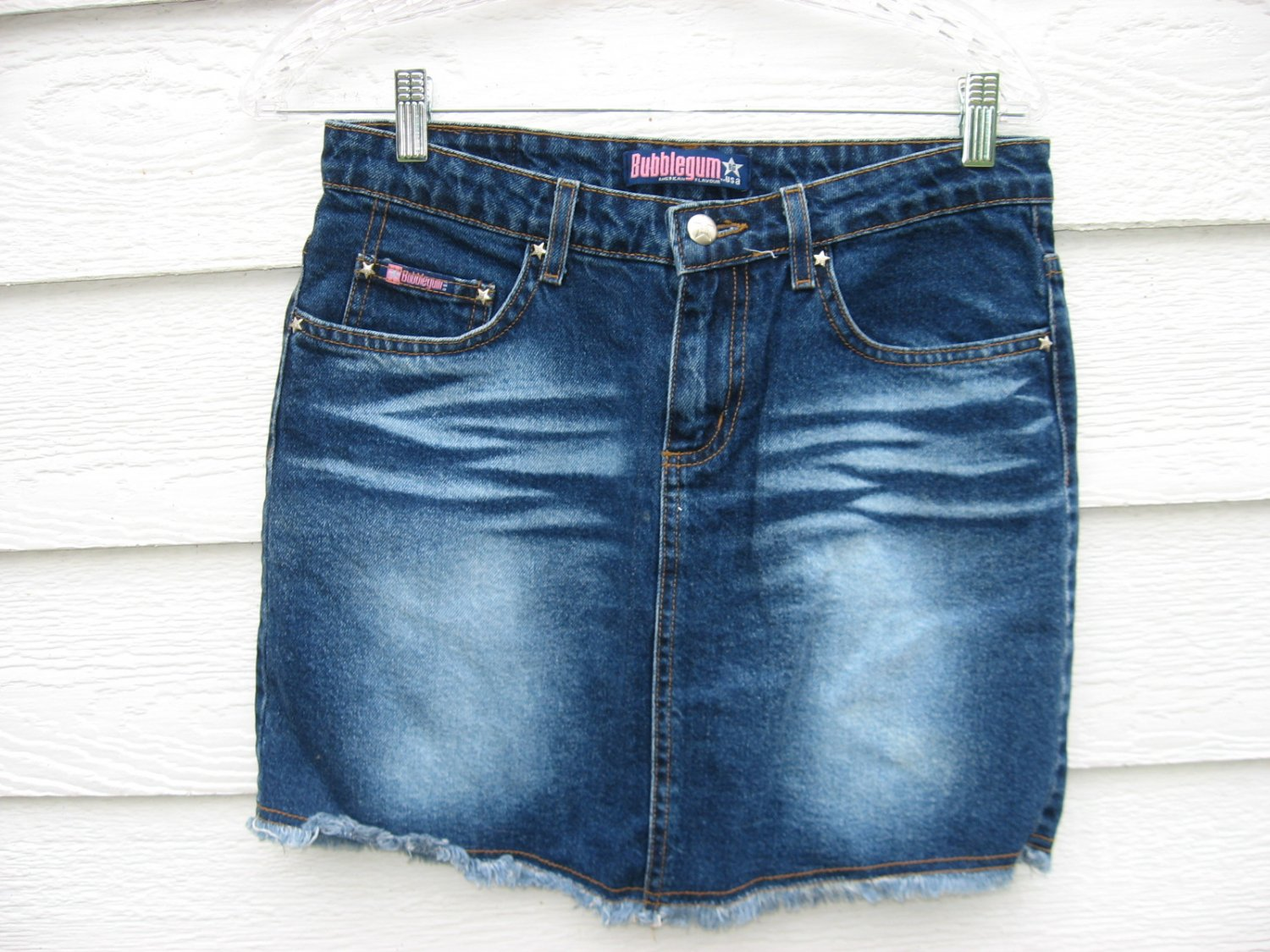 Bubblegum Jean Skirt 7/8 31 Waist Blue Denim EUC Mini