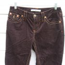 Tommy Hilfiger Corduroy Pants 4 32 Waist 32x32 Brown Yellow Orange Top Stitch
