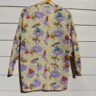 Cherokee Scrub Top XS 42 Chest NWOT Lt Yellow Ladybugs Medical Vet