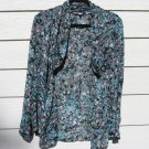 Sag Harbor Shrug Top Small 42 Chest Abstract Floral Jacket Cardigan