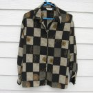 Tess Blouse Medium 44 chest Black Checked Shirt Top Long Sleeve