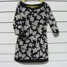 Black White Rose Dress Medium 36 Chest White House Black Market Knit Silky