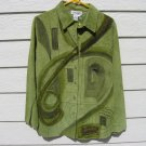 Avocado Art Wear Leather Shirt Jacket Small Green NWTPainted Expressions Leslie