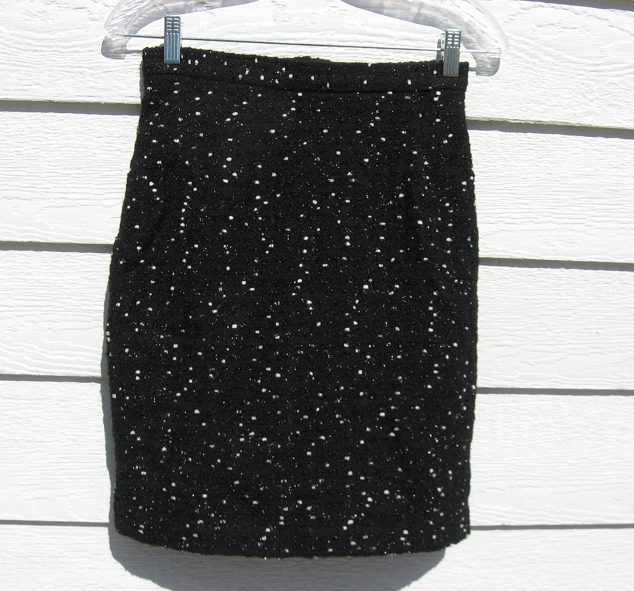 Alberto Makali Skirt 4 26 Waist Black Texture Wool Blend Straight