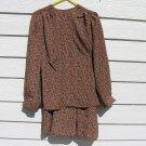 2 pc Prestige Top Skirt Small NWT Prestige Business Fashions Navy Brown