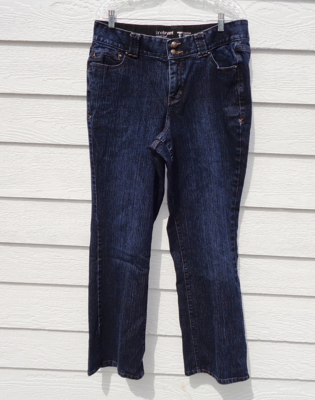 Lane Bryant Dark Blue Jeans 16 Average 36x31 Tummy Tech EUC