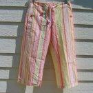 Jones New York Capris 6 31 Waist  Paste Stripe Cropped Pants Pockets