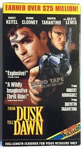 From Dusk Till Dawn Promotional Demo Screener VHS Tape