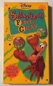 Sebastians Party Gras (VHS, 1992) Little Mermaid Disney