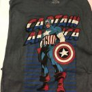 Captain America T-Shirt We Love Fine Marvel Size L Navy Blue Heather Brand New