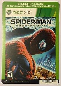 Xbox 360 Spider-man Edge of Time Blockbuster Artwork Display Card