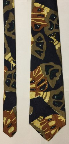 Zylos George Machado Multi-Colored Silk Necktie Tie
