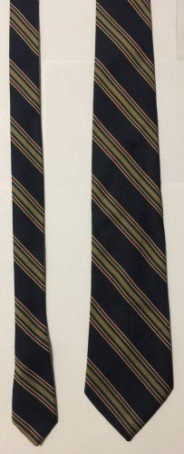 Corniche Polyester Striped Necktie Tie