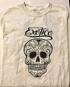 Tequila Exotico White T-Shirt Size Large Gildan